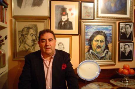 Joaquín Brotóns en su casa. 2004. Foto: Paco Ortega.