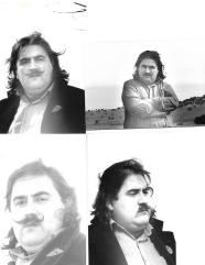4 fotos realizadas a J. Brotóns por el maestro de la fotografía y amigo, José L. Campos Lérida, en el campo de Valdepeñas, en Enero de 1981.