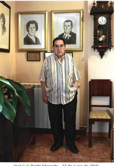 Joaquin Brotóns en su casa. Foto: José Luis Pardo, Valdepeñas, junio de 2018.